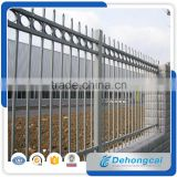 Modern iron spear top backyard metal fence with multi color