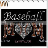 wholesales and DIY baseball hot fix rhinestone heat transfer design