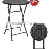 81cm hotsale plastic folding round bar table of rattan design style for wholesale from China manufacture