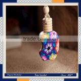 New product Factory direct fragrance perfume wooden cap hanging car parfum diffuser bottle