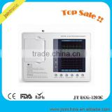 CE Approved Portable 3 Channel Ecg Ekg Machine, 12 Lead digital medical edan pc ecg