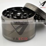 shenzhen VA Tobacco Grinder 4 Piece Herb Spice Metal Crusher 63mm x 4 Metal Zinc Alloy BLACK
