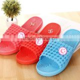 Women smile cool summer slippers Candy color anti-skid slippers Grid bathroom slippers wholesale manufacturers selling