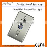 Hot sale good quality X04L stainless steel metal exit button with green blue light for access control system