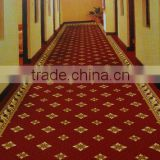 diamond small golden amazing floral pattern red wilton carpet 2meter width corridor