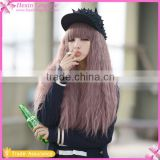 2016 Trending Products Long Wavy Blonde Anime Cosplay Wig Hair