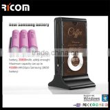 hot selling fashionable high capacity portable restaurant charge station advertising power bank---PB102--Shenzhen Ricom