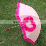 2015 Fancy Heart Shape Wedding Gift Umbrella