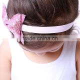 korea fashion pretty satin ribbon hair bow headband colorful baby hairband fits babies and toddlers girls