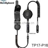 Two way radio walkie talkie waterproof heavy duty bone conduction headset headphone for Motorola Kenwood ICOM Hytera