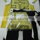 100% polyester Air cool Mesh with heavy Spandex tackle twill American Football Uniform