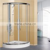 Quarter Circle Shower Tray Tempered Glass Bath Shower Cabin                                                                         Quality Choice