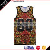 Yingzhong garment factory 2016 Summer Workout Sleeveless Vest Running Shirts Stringer basketball 23nmb print Tank Tops
