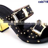 csb7198 shrining material ladies Single shoes for party Italy Bling Bling shoes matching purse fashion low heel shoes