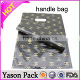 yason plastic punch out handle bag white patch handle bags hdpe printed soft loop handle bag