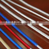 7x7 304 stainless steel wire rope pvc/nylon coated