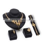 Innovative Design Horn Shape Gold Metal Ball Charm Pendant Chunkey Gold Jewelry Set For Women