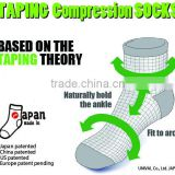 Sporty compression athletic socks made in Japan for wholesale