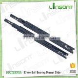 High quality 37mm full extension ball bearing drawer rail furniture accessories drawer slide