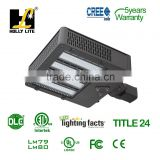 DLC approval 150W LED Shoebox replace for 400W MH lamp,LED shoe box light for Tennis Court