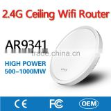 OEM Root 2.4G AR9341 Wireless Ceiling Mobile Wifi Router Network Access Point AP with Inner Antenna for Hotel Restaurant