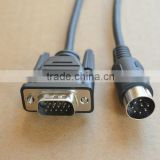 2m (6.56ft) RS232C cable 15-pin D-shell male to mini-DIN right-angle connector