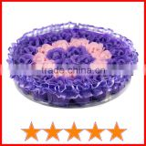 Newest pretty soap flower gift set/soap flower in round fancy gift box