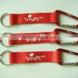 Perfect promotional metallic color custom aluminum carabiner hooks with lanyard and keyring