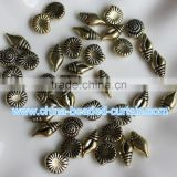 Top Selling Antique Copper Acrylic Escargots Conch Shape Spacer Beads for Jewelry Supplies