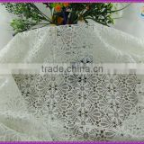 2015 embroidery cord-lace-fabric wholesale jacquard polyester mesh guipure lace flower textile knitting cotton fabrics