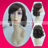 Primitive elegant synthetic hair spring curl wigs for white women