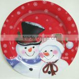 Christmas design melamine plate for business gifts, advertising gifts, promotional items,