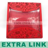 Luxury customized letter envelope/red envelope with clear window