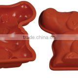 2016 News Products Dog Shaped Silicone Cake Mold Pan Chocolate Baking Mould