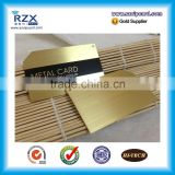 Custom design CR 80 Size Printable Gold Metal business card with contact chip or magnetic stripe