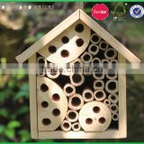 natural FSC wood insect house with bamboo