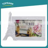 Toprank Factory Supply Cheap Home Decoration Eiffel Tower plastic 4x6 Picture Photo Frame Cute Paper Photo Frame