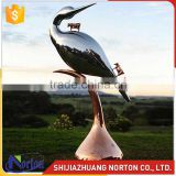 Stainless Steel Bird Garden Sculptures with three bull NTS-022LI