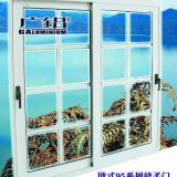 Horizontal Grilled Aluminium Sliding Windows Fireproof Push - Pull Window For Room