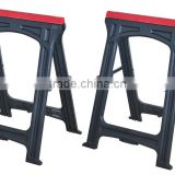 2016 New 2x Folding Plastic Sawhorse Twin Pack Trestle Saw Horse Stands Fold Away Cutting