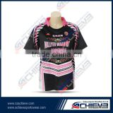 2015 Wholease Customized Full Sublimation Rugby Football Training Uniform shirt Rugby gear