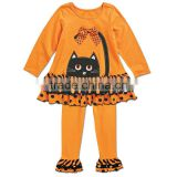 baby/toddler girls cute halloween long sleeve black Cat Face outfit Manufacturer