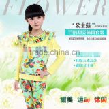 Kids clothes cheap price Guangzhou Child sport causual Sets