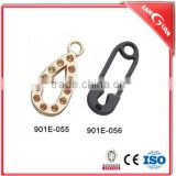 Fancy classic high qualiyu custom metal zipper pull puller for nylon, plastic and metal slider