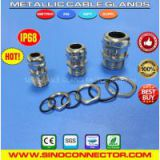 Metal (Brass or Stainless Steel) Liquid-tight Cable Gland Cord Grip Fittings with PG, Metric, NPT & G threads