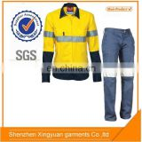 Women 100 cotton flame retardant safety workwear Shirt and pants suit