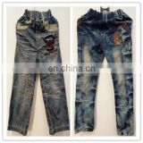 factory supplier used clothes bales kids jean pants pack in 100kg