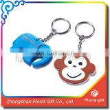 Hot sale custom made promotional soft pvc keyring/keychain/soft pvc rubber key tag