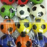 China professional sports toys factory cheap kids 4cm 5cm 6.3cm 7cm pu foam football stress ball