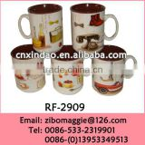 U Shape Persoanlized Daily Used Custom Print Porcelain Promotional Kids Soup Cup for Tableware